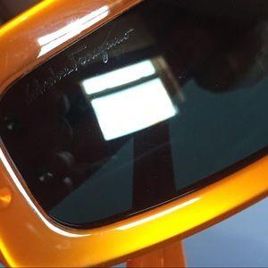 Salvatore Ferragamo Accessories - salvatore ferragamo orange sunglasses